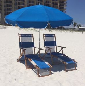 Beach Chairs Rental Set - Ike's Beach Service