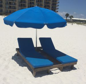 Beach Lounger Rental Set - Ike's Beach Service
